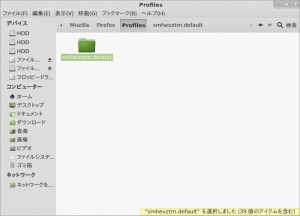 Windows版Firefoxの.defaultフォルダ